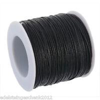 Sonderangebot 1 Rolle(80m) Schwarz Wachs String/Schnur/Garn für Schmuck 0.5mm