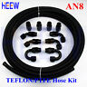 AN8 8 -AN E85 Oil Fuel Line PTFE Gas Oil Hose+Fitting End Adaptor 20FT BLACK
