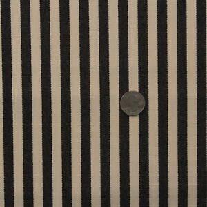 "BALLARD DESIGN SUNBRELLA ROBINS STRIPE BLACK OUTDOOR INDOOR FABRIC BTY 54""W"