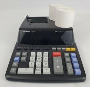Sharp EL-2196BL Desktop Calculator 12 Digit Preowned Tested Black