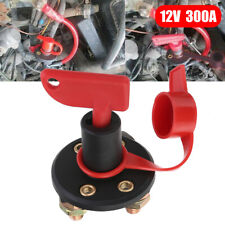 300A Car Truck Battery Isolator Disconnect Cut Off Switch+Removable Key New