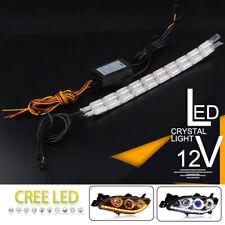 2pcs 10LED Waterproof Flexible LED Strips Lights White DRL Daytime Running Light