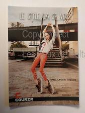 VANS AUTHENTIC LEOPARD COURIR publicité   carte postale postcard