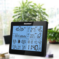 LCD Wireless Weather Station Forecast Barometer Thermometer Humidity EU PLUG