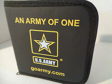 AN ARMY OF ONE CD/DVD case U.S.ARMY black gold zipper