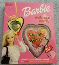 Barbie Hearts w/ Gold Plated Heart Locket Necklace - Valentine's Day - 2000-RARE