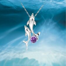 Necklace Double Dolphins Pendant Guardian Of Love Necklace Fashion Jewelry