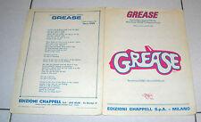 Spartito GREASE di Barry Gibb Songbook spartiti 1978 Cinema sheet music