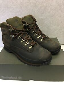 Men's Timberland CLASSIC LEATHER EURO HIKER BOOTS, TB095100 214 Multi Sizes Brwn
