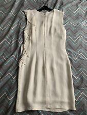 Mango Suit Cream Ruffle Sholder Dress Size S