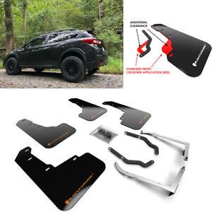 Rally Armor Black w/ Orange Logo Mud Flaps for Subaru XV Crosstrek & Lifted 18+