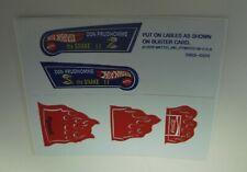 """HOTWHEELS REDLINE """"SNAKE SERIES 2 blister insert funny car sticker"""