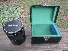 Soligor C/D Mirror Lens f=500mm with covers and case