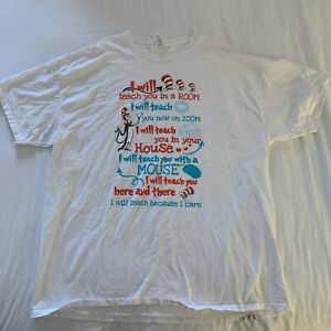 Cat In The Hat Shirt Adult White Extra Large XXL Short Sleeve Casual Men U200