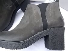 Carvela Slate Nubuck Women's Ankle BOOTS UK 7 1/2 EU 41 Leather