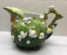 """ANTIQUE ROYAL BAYREUTH TOMATOES PITCHER - Footed, Marked 891, 6.5"""" Height"""