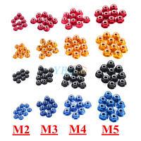 10Pcs M2/M3/M4/M5 Nylon Insert Self-Lock Aluminum Nuts Hex Lock Nut 4 Colors