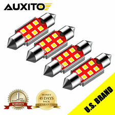 4x Auxito Led Courtesy Dome Trunk Map White Canbus Light Bulbs 578 211 2 4142mm