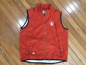 Adidas Men's Rust Orange Zip Up Vest Size M