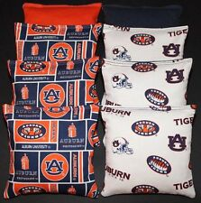 ALL WEATHER CORNHOLE BEAN BAGS made w AUBURN TIGERS AU Fabric Resin Filled