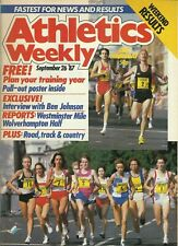 ATHLETICS WEEKLY MAGAZINE – 26 SEPTEMBER 1987– TRAINING PLANNER PULL-OUT POSTER
