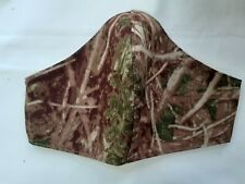 Handmade ivy leaf, real tree, camo fabric face mask. Reusable. Washable. Mans