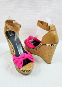 JustFab women's Espadrilles Wedge Heels shoes size US 10 UK 8 EUR 41 C09