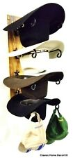 Cowboy Hat Rack STAR American Made with Charred Wood Base 4 Tier