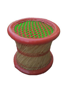 "Handmade Eco friendly 14"" Inches Stool Outdoor/Indoor Mandala For Meditation"
