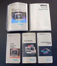 5x vintage 1980's Tektronix computer operator manual 4105 4110 4111 Visual 600