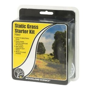 Woodland Scenics FS647 | Static Grass Starter Kit | Field System | New
