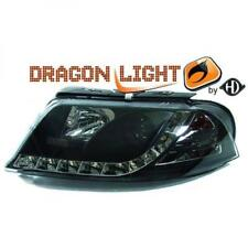 LHD Projector Headlights Pair LED Dragon Clear Black H1 h1 For VW Passat 00-05