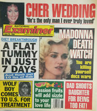 National Examiner June 26 1990 Madonna Death Watch - Wolf Boy - Cher Wedding