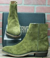 *Frye Billy Inside Zip Bootie 70806 Casual Dress Boots Green Khaki Size 7.5 M