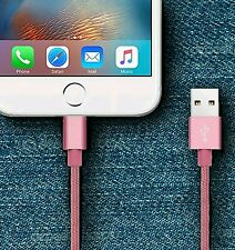 1m Metal Knit Braid Lightning Charger Cable for Apple iPhone 7 6s 5 5s 5c 6 Plus