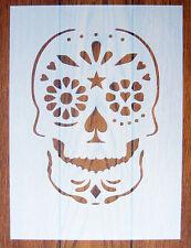Giorno dei Morti Cranio Maschera Stencil Riutilizzabile Mylar Foglio per Arts & Crafts, fai da te