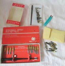 Vintage Estate Lot Art Drawing Supplies Calligraphy Pens & Nibs Hunt's Speedball