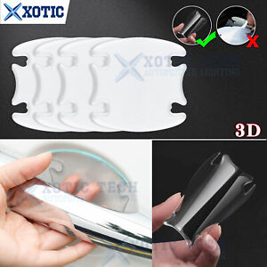 4 x Invisible Clear Adhesive Door Handle Paint Scratch Protection Film Sheet 3D