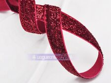 "10yards 3/8"" Flocked Velvet Ribbon Bows Sewing Trim Craft Headband Lot Colors"