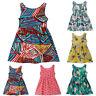 Toddler Kids Baby Dresses Girls Print Sleeveless Princess Summer Sundress