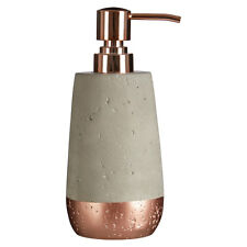Neptune 200ml Lotion Or Soap Dispenser Copper and Concrete For Home Office Bath
