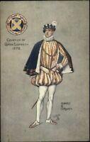 TUCK Oilette Robert E Groves St. Albans Pageant Courtier of Queen Postcard