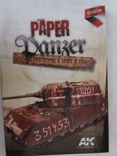 AK Interactive's Paper Panzers, Prototypes & What If Tanks, 206 pages, paperback