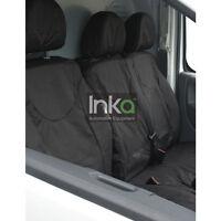 Citroen Dispatch Mark 2 Front Set Inka Tailored Waterproof Seat Covers Black