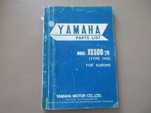 Yamaha XS 500 1H2 Manual Lista de Repuestos Catálogo Piezas Parts 1H2-28198-E5