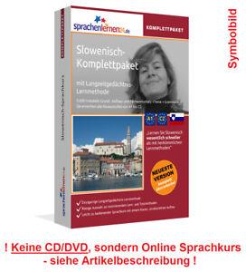 Sprachkurs Slowenisch lernen Komplettpaket Online Kurs Vokabeln Audiotrainer