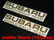 """6"""" 152mm team rally world Decal Sticker for impreza forester legacy wrc liberty"""