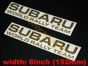 "6"" 152mm team rally world Decal Sticker for impreza forester legacy wrc liberty"