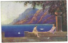 RAPHAEL TUCK POSTCARD 1920's - GOLDEN DAWN SERIES - CARD 3800 ART DECO STYLE #3