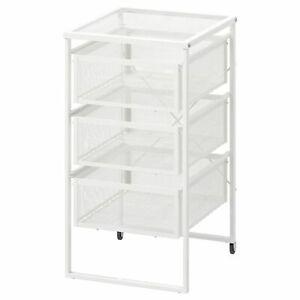 IKEA Lennart 3 Drawers Storage Unit Castors Home Office Shop Use Hold A4 Paper